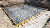picture of reinforcing  - Foundation of a new house with reinforced concrete - JPG