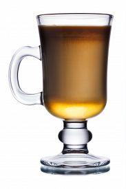 picture of irish  - Glass of irish coffee cocktail with irish whiskey - JPG