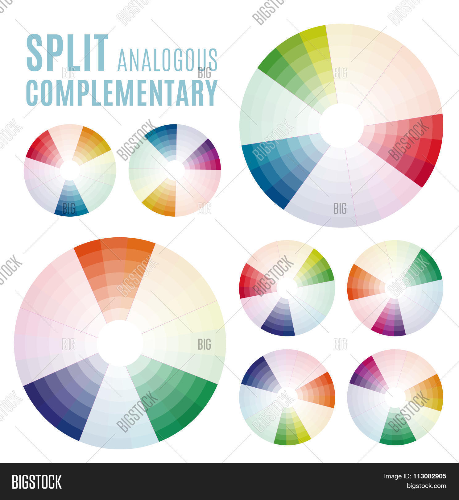 Psychology colors diagram wheel vector photo bigstock the psychology of colors diagram wheel basic colors meaning split analogous complementary set ccuart Images