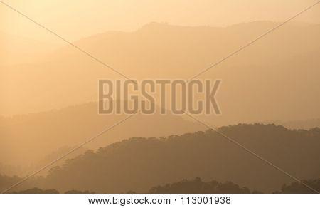 Dramatic Idyllic Sunset With Orange Colors