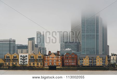 London Skyline Canary Wharf Business District