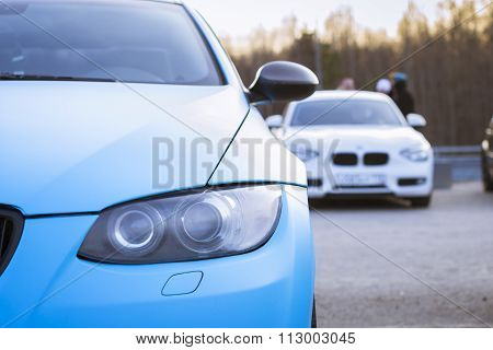 Blue Car Bmw 3-series