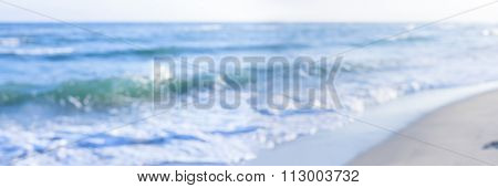 panorama sea shore blurred abstract nature background
