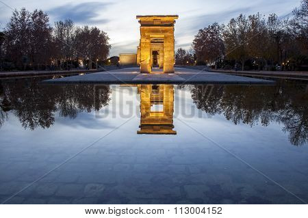 Temple Of Debod At Dusk