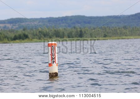 Buoy in water