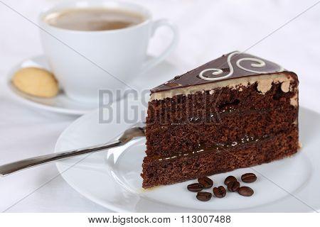 Coffee And Cake Chocolate Tart Dessert