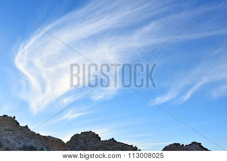 Interesting Clouds over granite boulders in Joshua Tree National Park