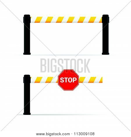 Toll Booth Vector On Road Safety