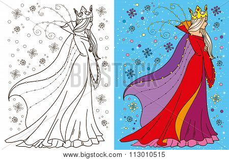 Colouring Book Of Snow Queen