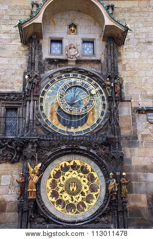 Prague, Czech Republic: May, 2011 - The Prague astronomical clock, or Prague orloj, Prague, Czech Republic