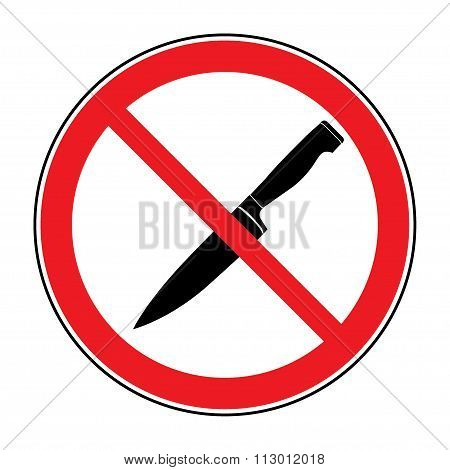No Knife Or No Weapon Sign