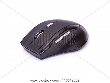 Cordless Computer Mouse On A White Background.