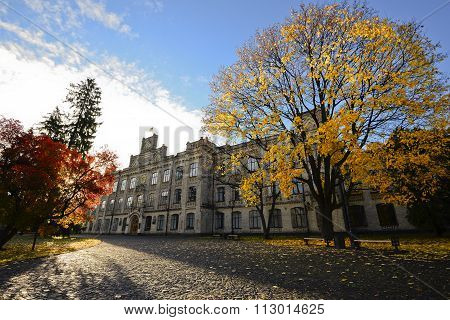 View of Kiev Polytechnic Institute in the fall