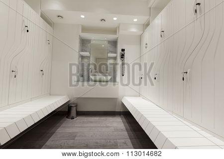 beautiful locker room