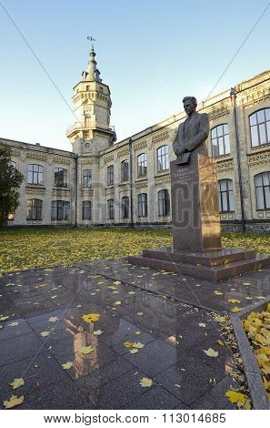 Kiev polytecnic institute and Victor Kirpichev monument