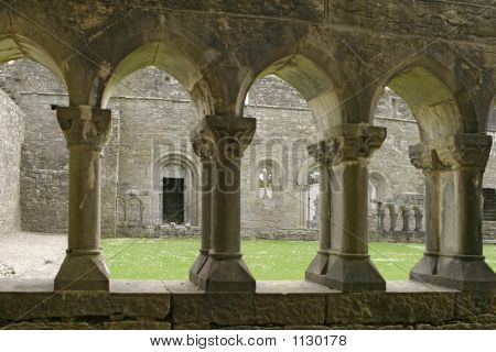 Ancient Abbey Cloisters