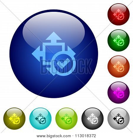 Color Accept Size Glass Buttons