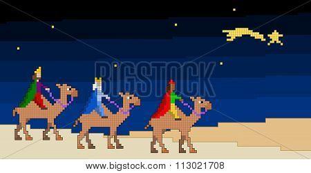 The Three Pixelated Kings
