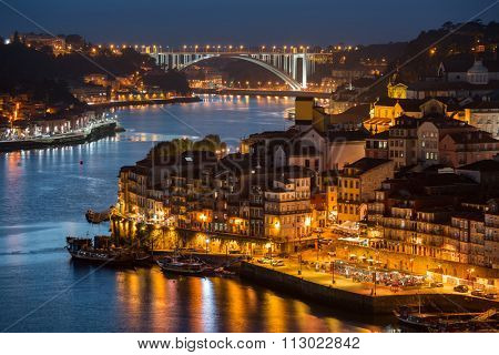 River of Douro at twilight, city of Porto, Portugal