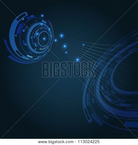Abstract Communication Illustration Background