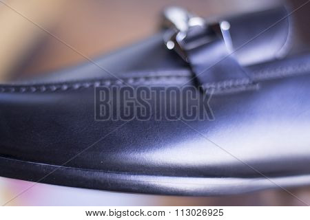 Men's Black Leather Formal Shoes
