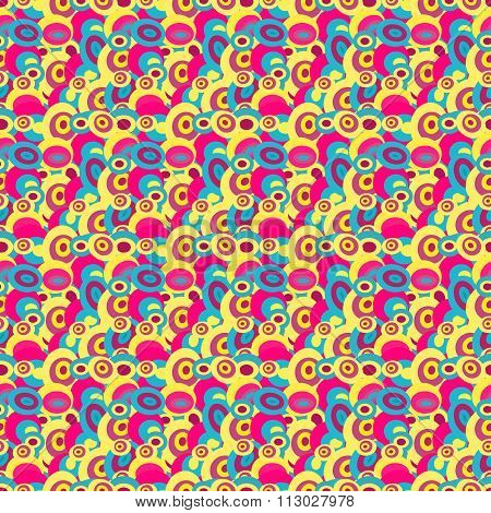 Circles In Retro Style Seamless Pattern