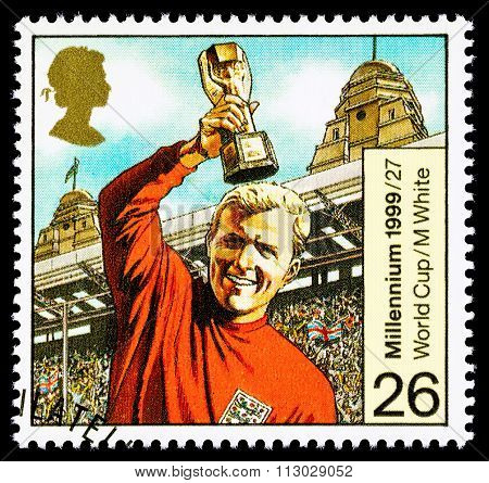Britain Bobby Moore Postage Stamp
