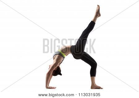 One-legged Wheel Pose