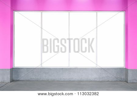 Bill Board Pink Valentine's Texture Wall, White Board, Room, Text, Photo.