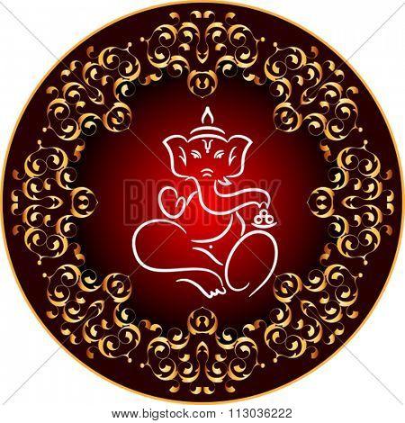 Ganesha The Lord Of Wisdom Raster Illustration