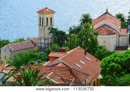 View Of Herceg Novi And Bay From Fortress Wall, Montenegro