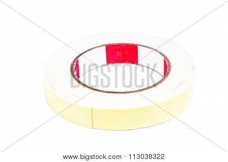 Roll Of Masking Tape On White