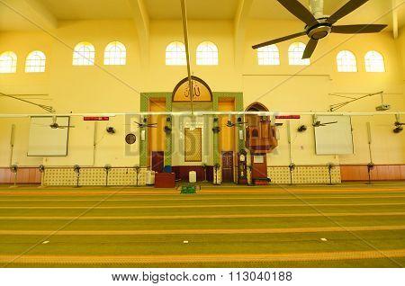 Interior of Putra Nilai Mosque.