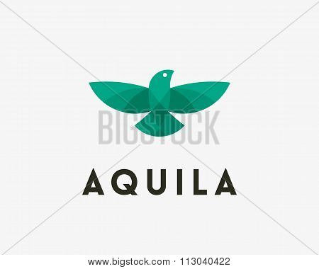Bird, eagle, vector logo design. Universal modern premium elegant symbol. Creative delivery, shippin