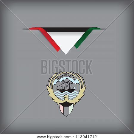 Kuwait Banner With Flag