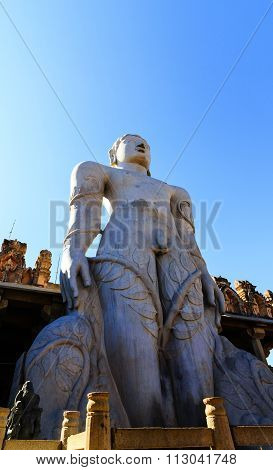 Bahubali the first tirthankara of Jainism captured at Shravanabelagola on December 30th, 2015