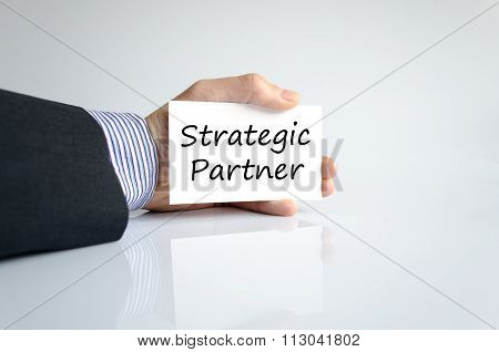 Strategic Partner Text Concept