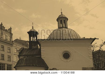St. James Church On Main Square In Cracow