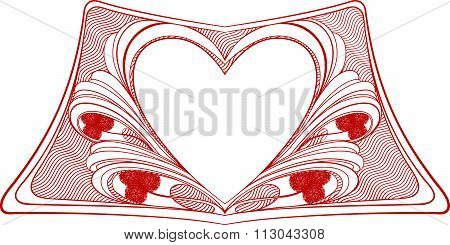 frame with place for text in heart shape
