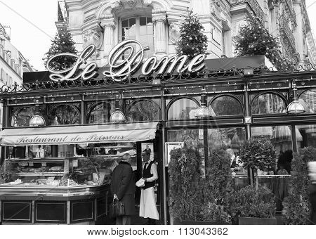The Restaurant Le Dome , Paris, France.