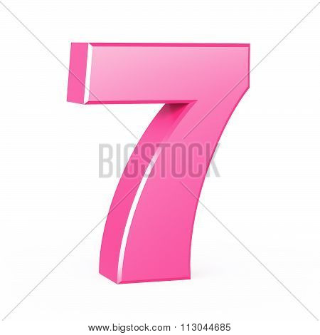 three-dimensional number in pink
