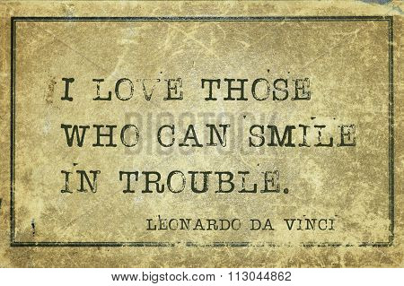 Smile In Trouble Davinci