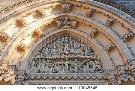 Tympanum Of Basilica Of St Peter And St Paul In Vysehrad