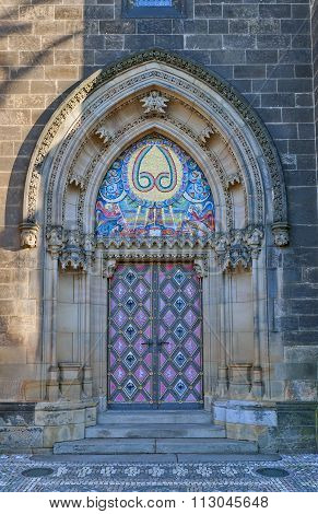 Entrance Of Basilica Of St Peter And St Paul In Vysehrad