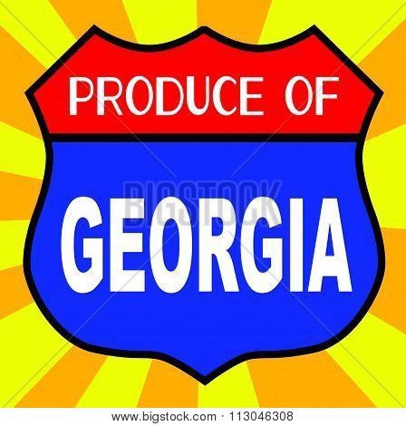 Produce Of Georgia Shield