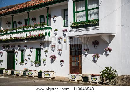 Typical Image In The Andalusian Province Of Malaga, Spain