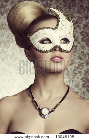 Stunning Woman With Mask