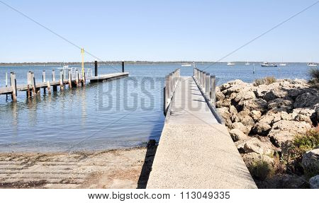 Mandurah Foreshore with Boat Launch