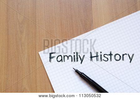 Family History Write On Notebook