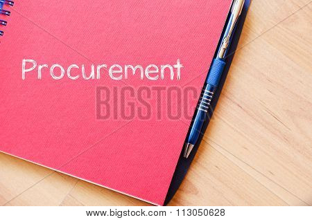 Procurement Write On Notebook